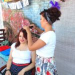 Pin-up hairdressers workshop at 1st. Hang Loose Rockabilly Festival